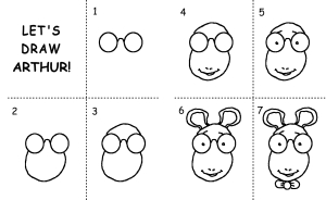 Simple steps to draw Arthur - click here!